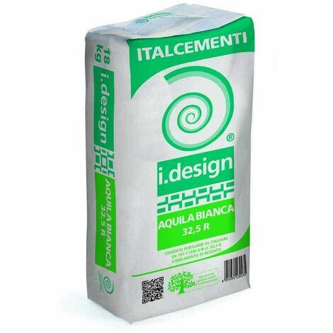 "main image of ""Cemento bianco R 32,5 18Kg Idesign Aquila Bianca Italcementi"""