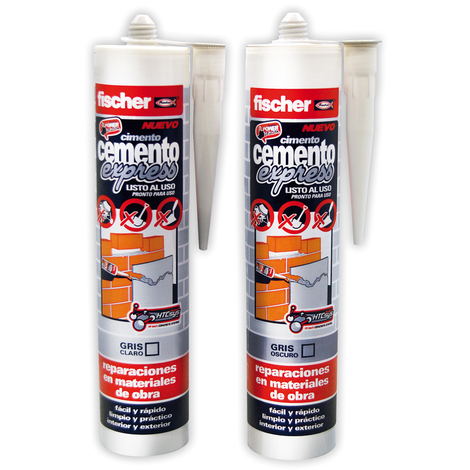 Cemento express 310 ml fischer - varias tallas disponibles