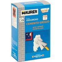 Cemento Grigio 1 Kg Maurer per Riparazioni su Intonaci, Calcestruzzi e Pavimenti