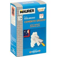 Cemento Grigio 5 Kg Maurer per Riparazioni su Intonaci, Calcestruzzi e Pavimenti