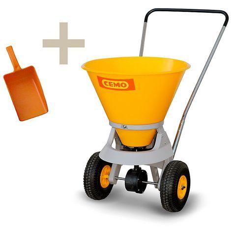 CEMO Chariot d'épandage avec pelle manuelle, pour petites et moyennes surfaces capacité cuve 35 l
