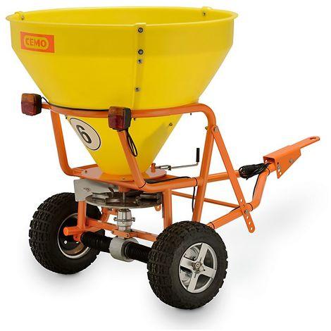 CEMO Chariot d'épandage grande capacité - largeurs max. d'épandages 5 m - capacité cuve 300 l