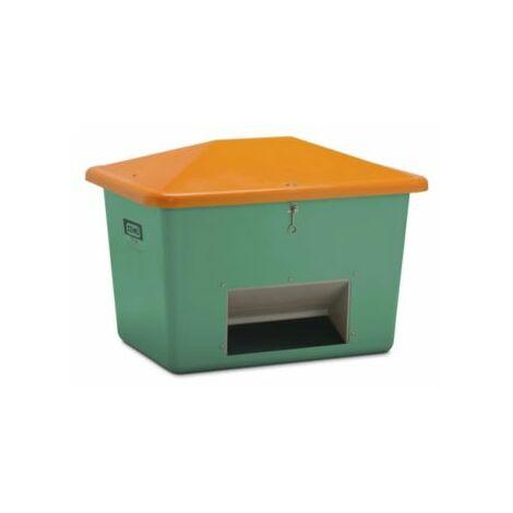 CEMO Streugutbehälter aus GfK - Volumen 700 l, mit Entnahmeöffnung, Behälter