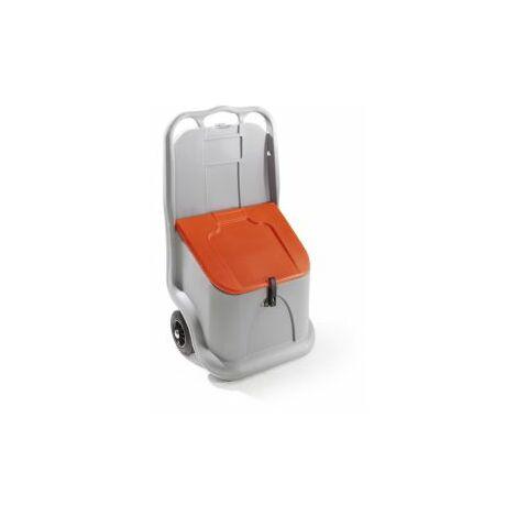 CEMO Streugutbehälter, fahrbar, Inhalt 75 l mit 2 Rädern und Deckel