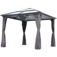 Cenador 3x3 contecho de terraza de acero y poliéster, Angel Living