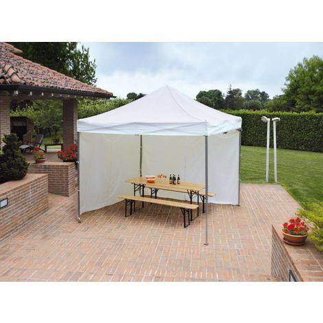 Cenador 3x3 m con estructura de aluminio y tela Blanca | Blanco
