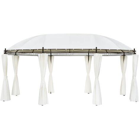 Cenador blanco crema 530x350x265 cm