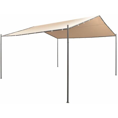 Cenador carpa 4x4 m de acero beige