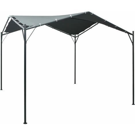 vidaXL Cenador carpa de acero gris antracita 3x3 m - Antracite