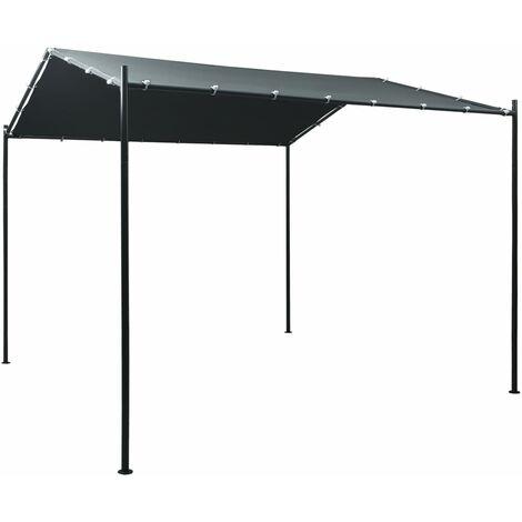 Cenador carpa de acero gris antracita 3x3 m