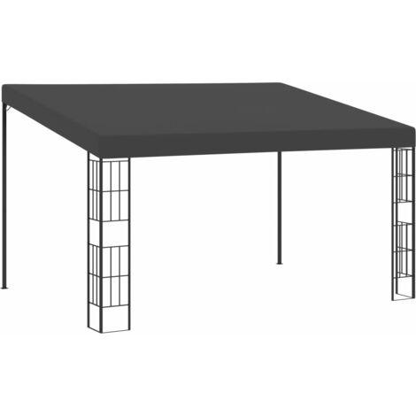 Cenador con montaje en la pared tela gris antracita 3x4 m