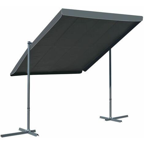 Cenador con techo retráctil inclinable 350x250x225 cm antracita