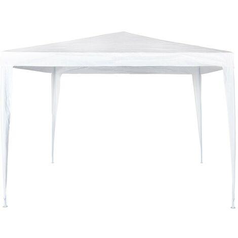 Cenador cuadrado Garden plástico blanco 300x300x250 cm (Aktive 53857)