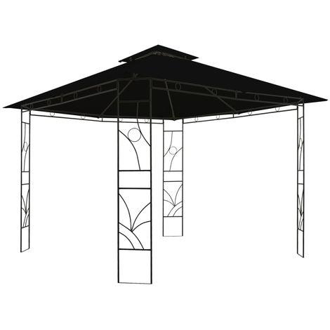 Cenador cuadrado gris antracita 300x300x300 cm