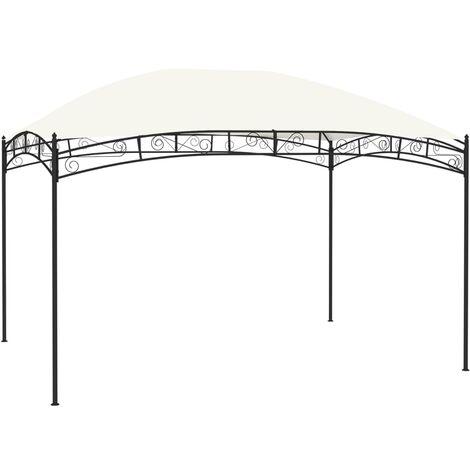 Cenador de jardín color crema 4x3 m 180 g/m²