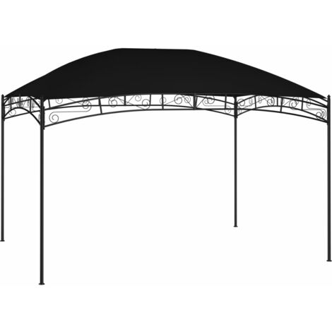 Cenador de jardín gris antracita 4x3 m 180 g/m² - Antracita