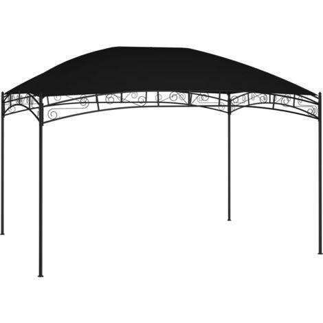Cenador de jardin gris antracita 4x3 m 180 g/m2