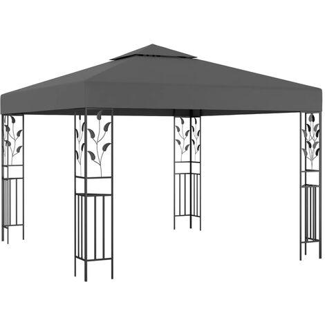 Cenador gris antracita 3x3 m