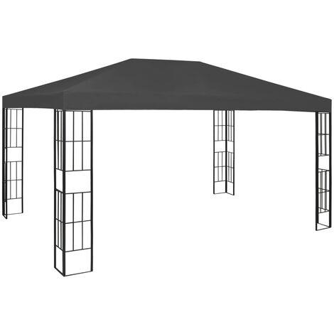 Cenador gris antracita 3x4 m