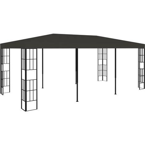 Cenador gris antracita 3x6 m