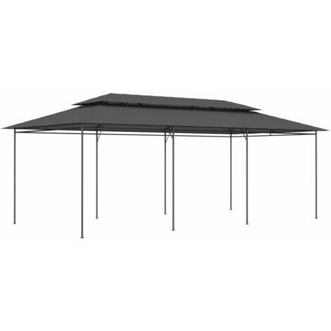 Cenador gris antracita 600x298x270 cm