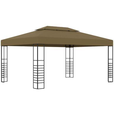 Cenador gris taupe 3x4 m 180 g/m²
