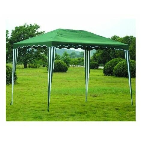 Cenador Jardin 3X3 Mt Natuur Metal Verde/Blanco Nt71060