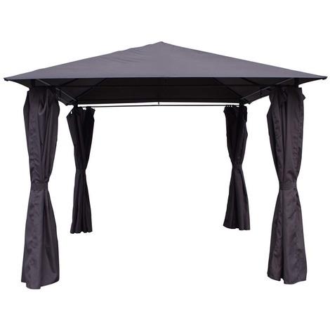 Cenador-Pergola Shana gris en poliester 3 x 3 x 2.6 m