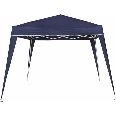 Cenador plegable cuadrado Garden poliéster azul 300x300x240 cm (Aktive 53859)