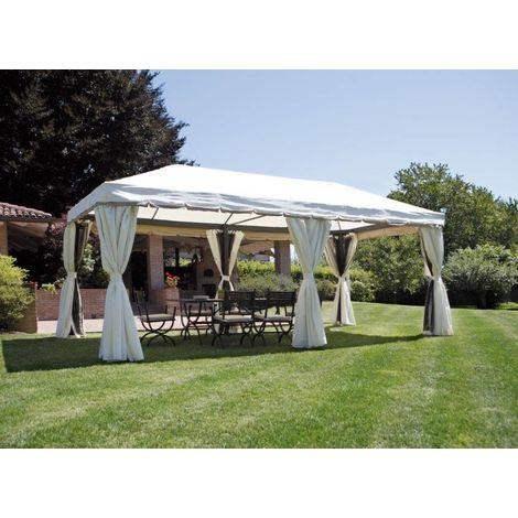 Cenador rectangular 6x3 m de aluminio | Ecru