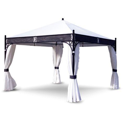 Cenador repelente al agua de 3.5x3.5 m con estructura de hierro | hierro