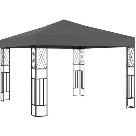 Cenador tela gris antracita 3x3 m