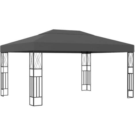 Cenador tela gris antracita 3x4 m