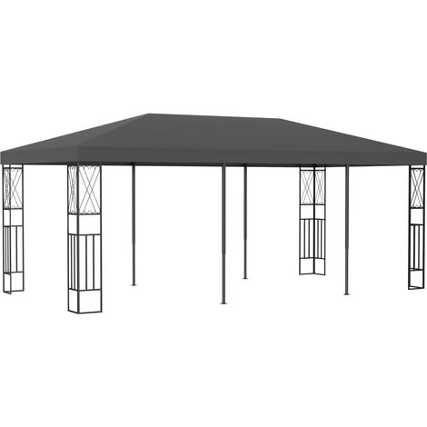 Cenador tela gris antracita 3x6 m