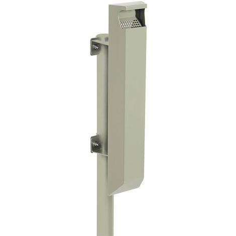 Cendrier 3 l pour poteau - sans serrure - Gris ciment - ARKEA | Rossignol - Ciment