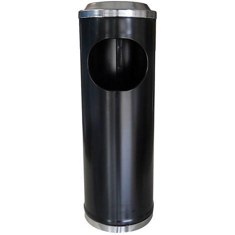 Cendrier-corbeille   acier peint époxy   Noir   11 litres   200x600   Mini Po   1 pièce   medial