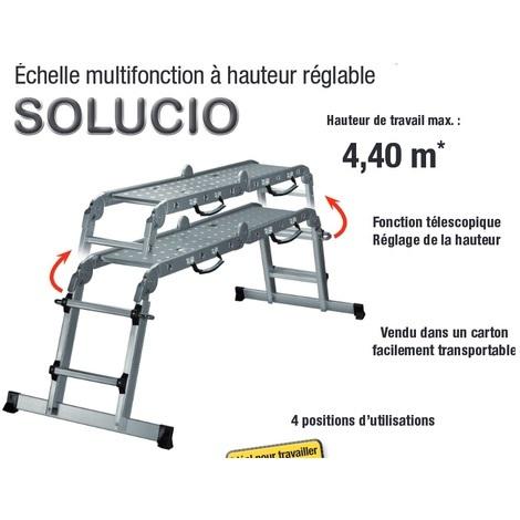 Centaure - Echelle télescopique + plate-forme multifonctions Haut 4.4m - Solucio - TNT
