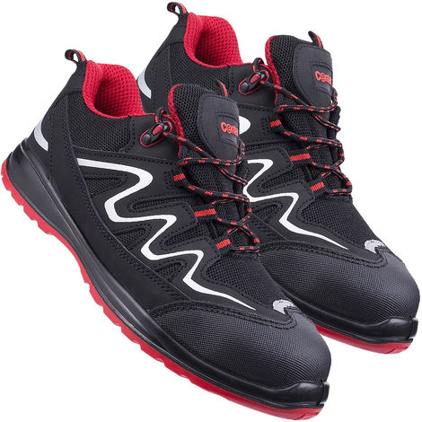 Centek FS312 S3 Safety Work Trainer - Red/Black Size 8