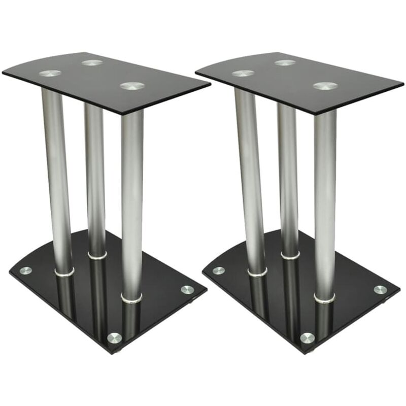 Image of Center Channel Speaker Stand by Ebern Designs - Black