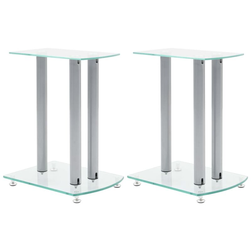 Image of Center Channel Speaker Stand by Transparent - Ebern Designs