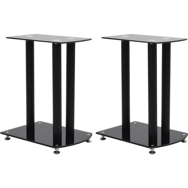 Image of Center Channel Speaker Stand by Black - Ebern Designs