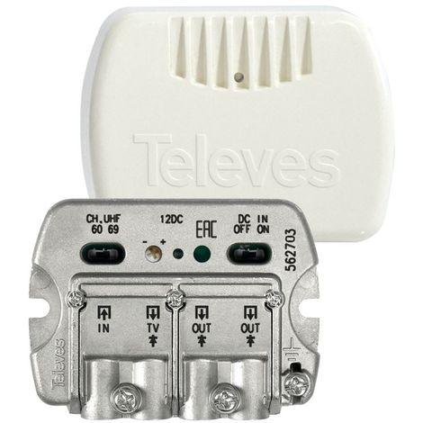 Central amplificadora banda ancha NanoKom EasyF 3 salidas Televes 562703