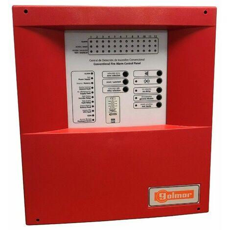 Central de deteccion de incendios convencional GOLMAR CCD-102 DE 2 ZONAS 21111032 (Serie CCD-100)