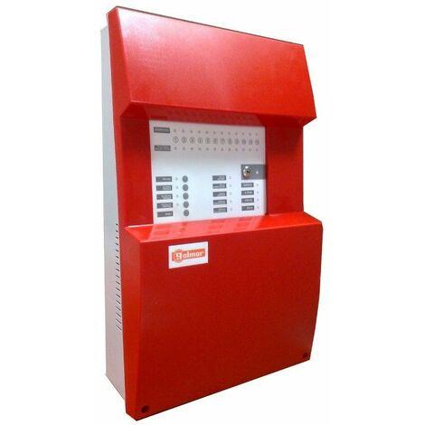 Central de deteccion de incendios convencional GOLMAR CCD-108 DE 8 ZONAS 21111038 (Serie CCD-100)