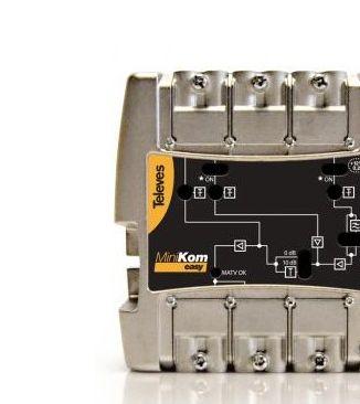 Central Tv Amplificadora de 5 entradas 1 salida Fm-vhf-uhf-uhf-fi Minikom Lte Televes 562201