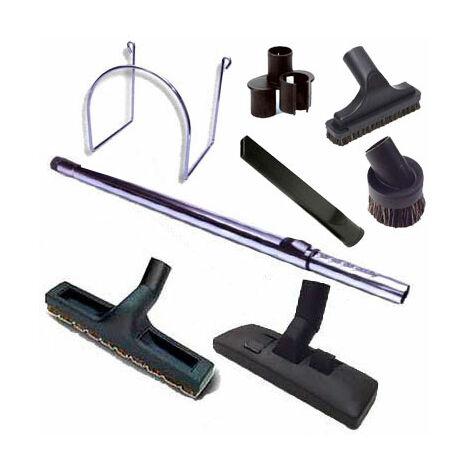 Centrale d'Aspiration Aertecnica TS2 Sans Sac - Jusqu'à 400 m2 - 3 ans de Garantie - Avec 1 kit flexible 9m et 8 accessoires + 1 kit 3 prises + 1 kit clapet de cuisine + 1 kit prise garage
