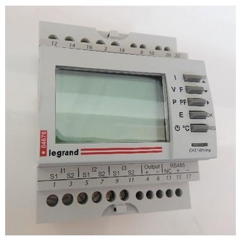 Centrale de mesure d'énergie 63A modulaire écran LCD 4M Mono/Triphasée avec sortie RS485 EMDX3 LEGRAND 004676