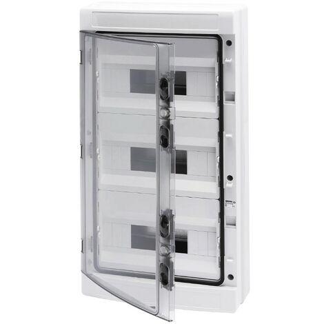 Centralita Gewiss, con visión completa de los paneles de ahumado 36(12x3) módulos GW40105