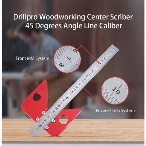 Centre de travail du bois Scriber 45 degrés Angle ligne calibre règle bois mesure Scribe outil