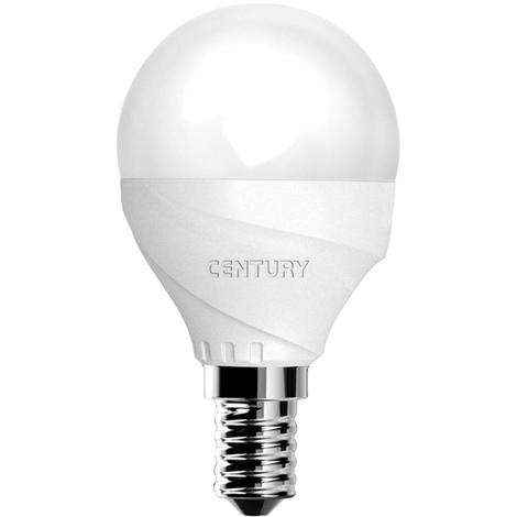 Century Bombilla globo micro LED, 6W de potencia, 3000ºK, 470 lumens, 30.000 horas de vida, tipo E14